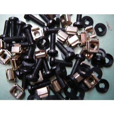 50 Rackmount Nuts bolts washers
